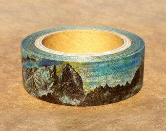 Swedish and Norwegian Landscape : Japanese Washi Masking Tape One Roll (15 mm) = The Collection of Beautiful Mountains