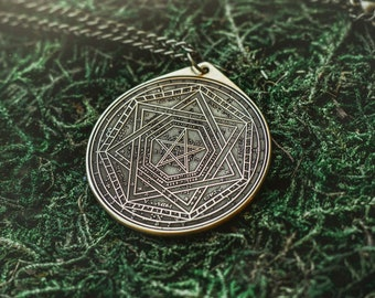 Enochian Great Tablet Seal of Truth Sigillum Dei Ameth Solomon kabbalah amulet pendant