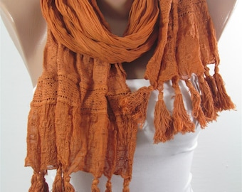 Tassel Scarf Cowl Scarf Boho Scarf Bohemian  Fashion Accessories Holiday Fashion  Winter  scarf Mothers Day Gift For Mom For Women Holiday