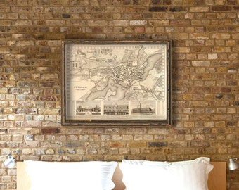 Potsdam  map - Old map of Potsdam print - Archival print