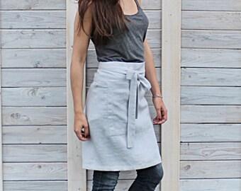 Linen tool apron / daily linen apron / Florist apron