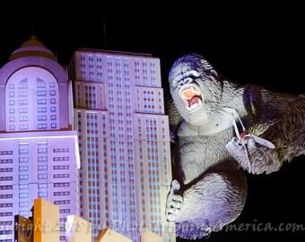 Wall Art, Canvas Art, Photograph, Photograph on Metallic Paper, Giant Gorilla, King Kong, Buildings, Comic Book, Ape, Climb, Gorilla,
