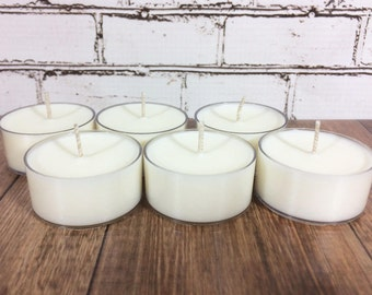 soy tea light candles (package of 6)