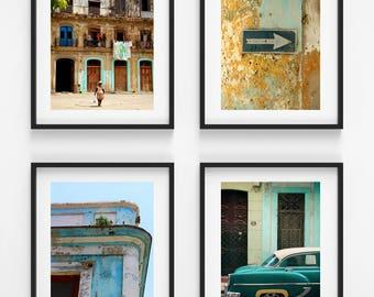 From Havana With Love - Art print set - Cuba Collection - Havana decor - Havana photography - Architecture art - Gallery wall - Travel gift