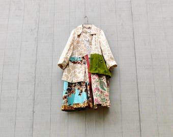Spring Jacket, Upcycled Clothing Plus Size, Folk Art Inspired, Upcycled Clothing Women, Statement Piece, Wearable Art, CreoleSha