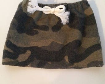 Camouflage Skirt with Drawstring