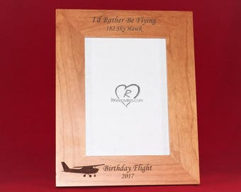 Airplane, Aviator, Pilot Gift, Personalized Picture Frame, Any Text