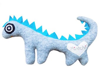 Dinosoaur, Blue Grey Dinosaur, Dinosaur Softie, Plush Dinosaur, Dinosuar Plushie, Dragon, Dragon Soft Toy, Plush Dragon