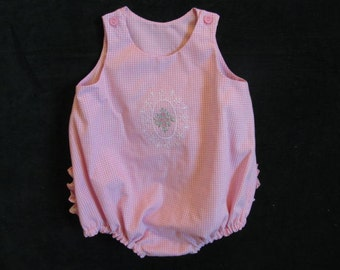 Baby Girl Bubble/Romper.  Pink GIngham Check.  Size 3 to 6 months