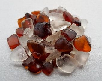 Genuine Irish Brown and White Sea Glass Mix, Genuine Brown and white Sea Glass Bulk, Sea Glass Bulk, Beach Glass Bulk
