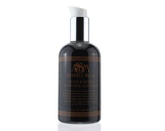 Charcoal Cleanser with Activated Charcoal & Glycolic Acid. Creamy 8oz