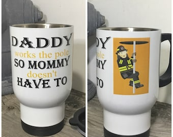 Fireman Gift  - Funny Mug  - Gift for Dad  - Firefighter Mug - Fathers Day Gift - Gag Gift for Fireman - Gift for Him - Fireman Mug