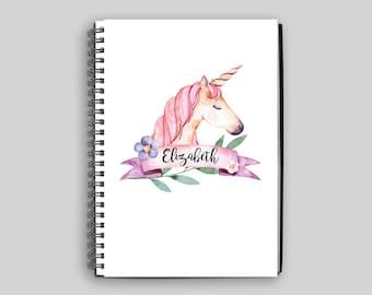 Unicorn Notebook ~ Personalized Unicorn Notebook ~ Unicorn ~ Custom Notebook ~ Child's Diary ~ Child's Journal ~ Unicorn Gift