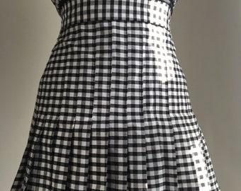 Pleated Gingham Skirt | Mini | Short