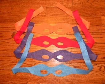 Teenage Mutant Ninja Turtles (TMNT) costume/play/party masks.