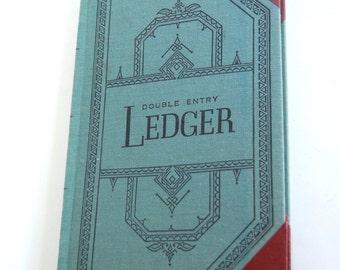 Vintage Ledger Book, Ephemera, Office Decor