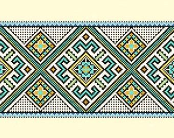 Cross Stitch Pattern PDF - Aztec