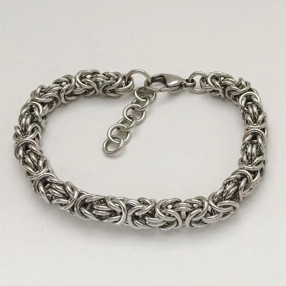 Stainless steel byzantine bracelet unisex everyday jewelry