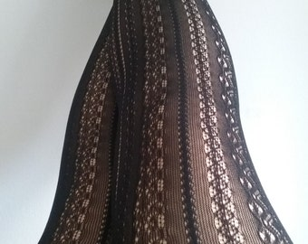 Black Tights stockings lace pantyhose suededead