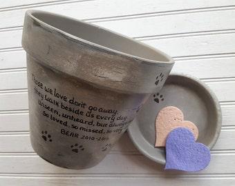 Dog Sympathy Gift - Cat Sympathy Gift - Pet Memorial Gift - Painted Flower Pot - Large Planter
