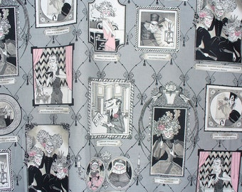 Ghastlie Gallery, Yard, Alexander Henry, Ghastlies Fabric, Ghastlies Gallery, The Ghastlies, By the Yard,  Smoke Background, Family Portrait