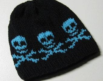 Arg...Be the Pirate - Skull Beanie, adult beanie, child beanie , cross bone beanie