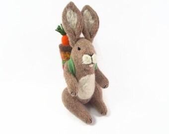 Bunny Rabbit, Easter Bunny, toy rabbit, waldorf rabbit, easter basket toy, Easter Hare, toy hare,