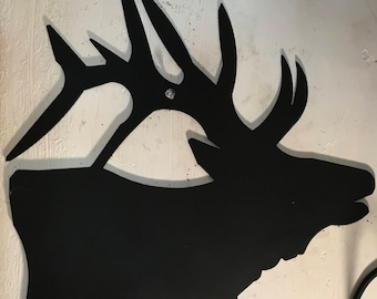 WROUGHT IRON Bugling Elk Head