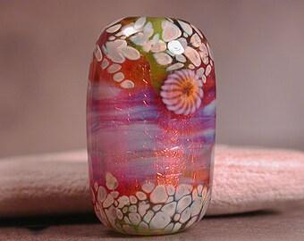 Lampwork Focal Bead, Artisan Glass Focal Bead, Lampwork Glass Beads, Lampwork Fire Opal Series, Divine Spark Designs, SRA
