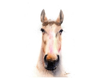 Watercolor horse print horse gifts spirit animal painting horse art print horse portrait painting horse lover gift horse decor