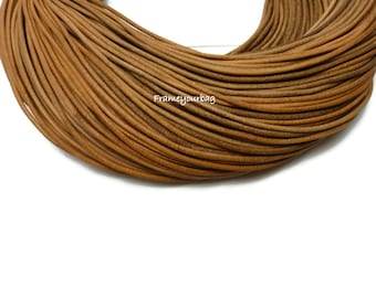 5 metre (5,47yd) Genuine LEATHER Cord 2.5 mm Natural