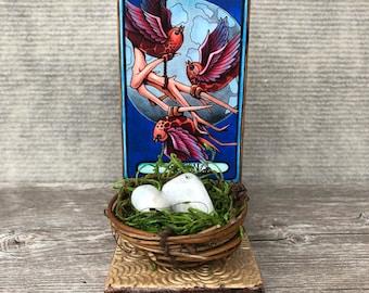 Healing Crystals Altar Moonstone Tarot Card Shrine Peace Serenity Crystal Energy The Moon Tarot Charged Moonstone Stone Healing Energy Gift