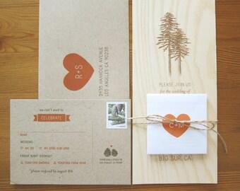 Custom Wooden Wedding Invitation