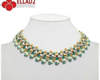 Tutorial Kani Necklace - Beading tutorial with Irisduo and Zoliduo beads, Instant download, design by Ellad2