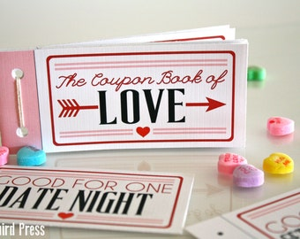 Printable Valentines Day Gift - Love Coupons - Coupon Book - Valentine Gift for Husband Boyfriend - Instant Download - Unique