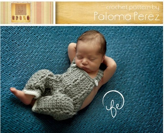 INSTANT DOWNLOAD - Crochet Little Mister Cable Overalls - Baby Overalls Pattern