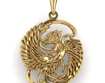 Amulet Sirin 14K gold