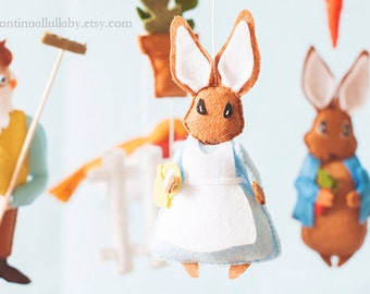 Peter Rabbit Baby Mobile No.3- Mother Rabbit- Storybook Mobile by A Continual Lullaby