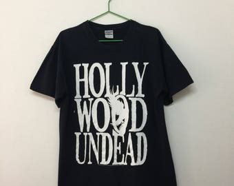 Hollywood Undead T-Shirt/Hollywood Undead American Rap Rock Band T-Shirt/Black/Size M