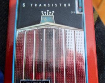 "Transistor Radio Refrigerator Magnet 2""x 3"" Continental"