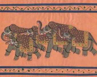 Herd of Elephants, Art of Jaipur, Mixed Media