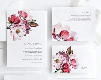Wedding Invitation Set - Printable - Invitation Suite Floral