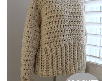 CROCHET SWEATER PATTERN, pdf Instant Download Crochet Pattern, not a finished product, make it yourself tutorial, The Orlingberry sweater