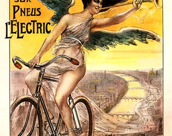 Cycles Daring Bicycle Poster (#0450) 4 sizes