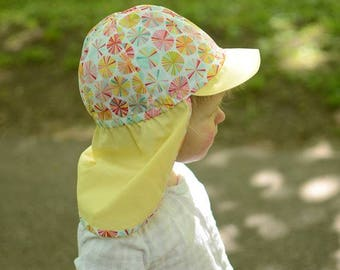 Baby Girl Sun Hat, Toddler Girl Beach Cap, Girls Cotton Sun Cap, Kids Summer Cap, Toddler Girl Sun Hat, Baby Girl Summer Hat, Kids Sun Hat