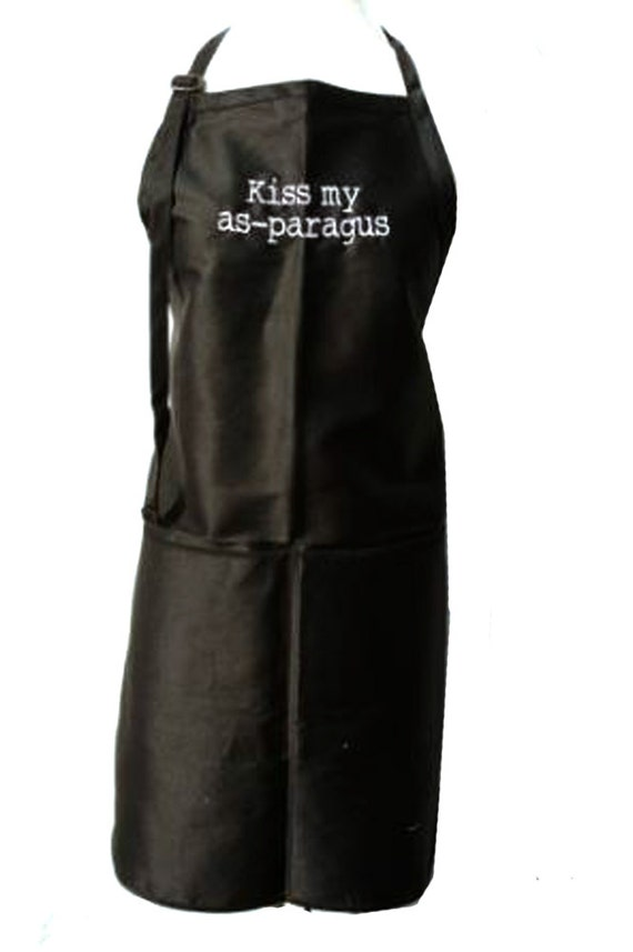 Kiss my As-paragus (Adult Apron) Available in colors too.