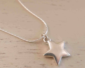 Silver Star Necklace - Silver Star Pendant - Minimal Silver Necklace - Simple Silver Necklace - Thin Silver Necklace - Boho Silver Necklace