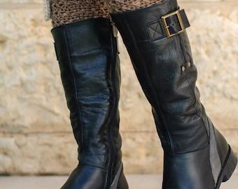 Womens Crochet Boot Cuffs, Womens Boot Socks, Lace Leg Warmers, Lace Boot Topper, Womens Lace Legwarmers