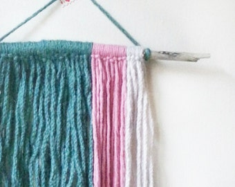 Wall Hanging, Wall Decor, Wall Accent, Bohemian, Boho, Yarn, Branch, Home decor ideas, Boho Style, Wall Art, Home and Decor, Unique Gift