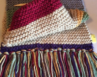 Doctor Who Inspired Hand Knit Scarf 12 feet long
